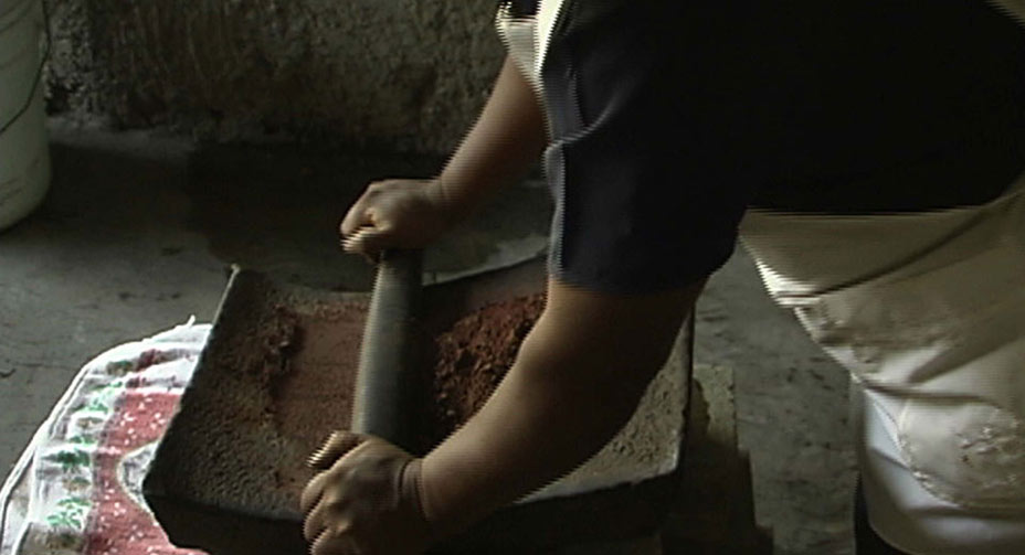 Grinding Cacao Beans